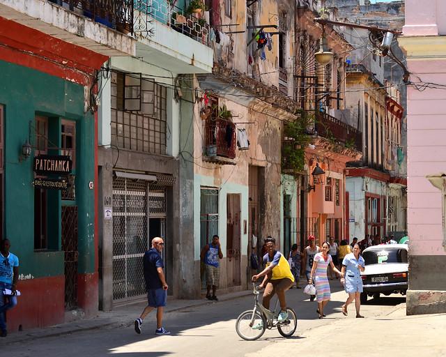 Calles de La Habana Vieja en Cuba