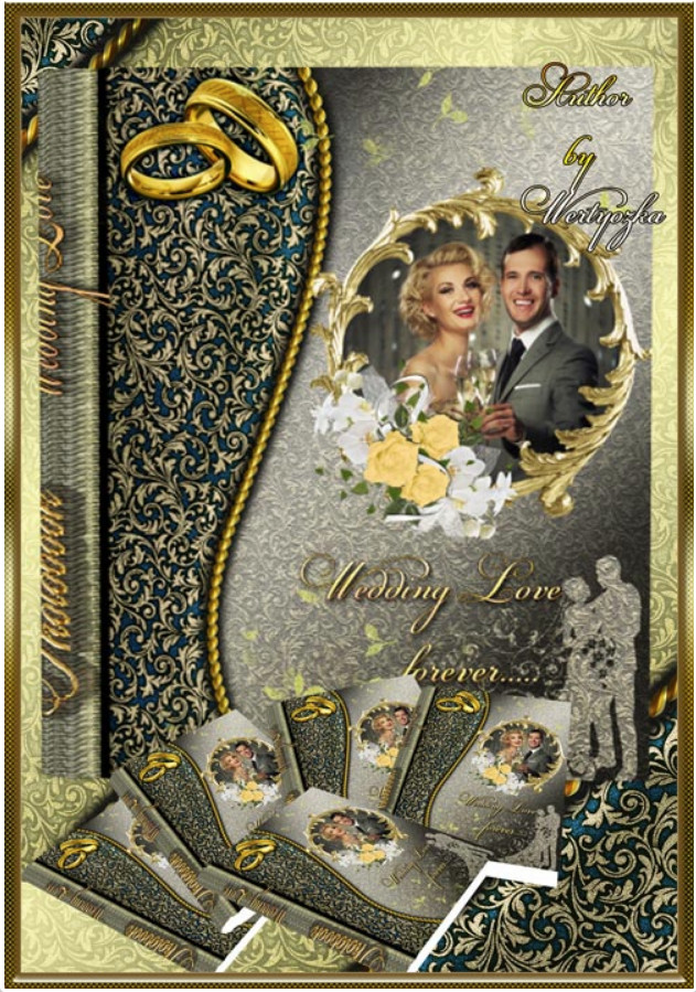 Wedding PSD photo book for Photoshop – love forever