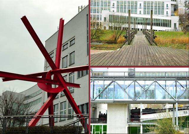 Technoseum Mannheim Außenanlage Parkanlage ... November 2017 ... Fotos: Brigitte Stolle
