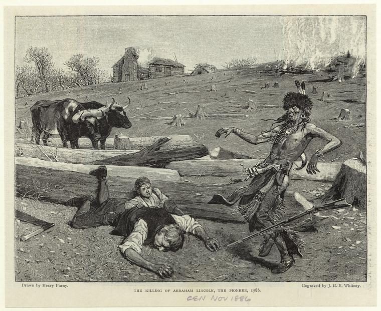 The Killing Of Kentucky Pioneer Abraham Lincoln 1786 Flickr