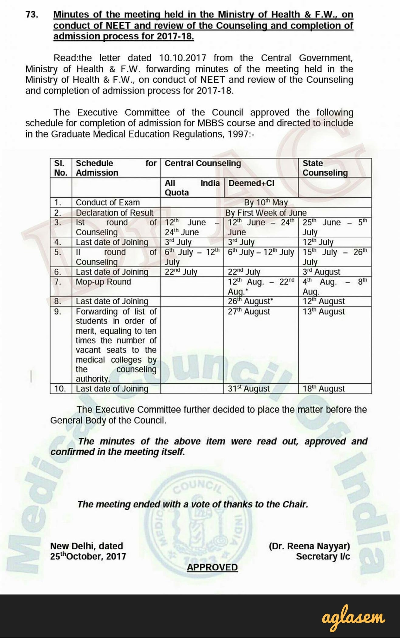 """NEET 2018 Exam Date """"by 10 May 2018"""", and Not necessarily """"on 10 May 2018"""""""
