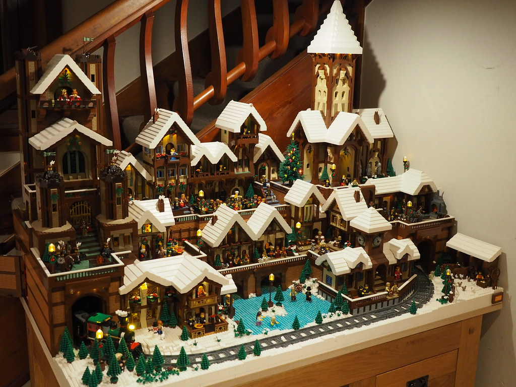 lego christmas village full view by nolphiplays