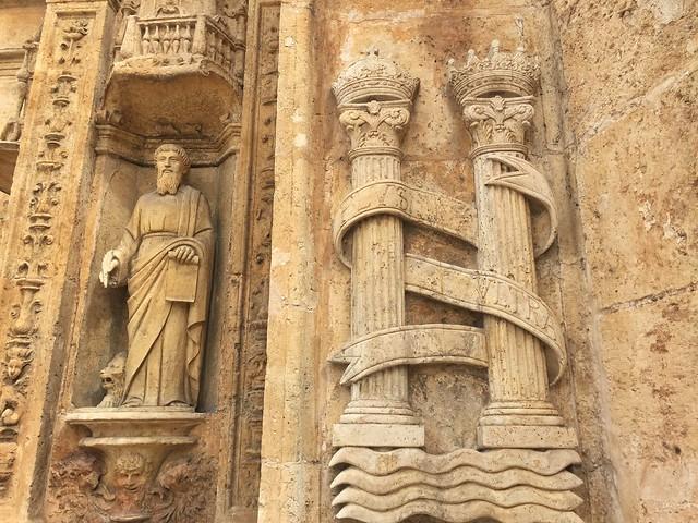 Detalle de la fachada plateresca de la catedral de Santo Domingo, primada de América
