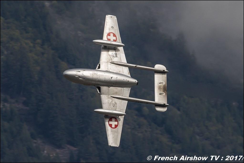 de Havilland Vampire T.55 - U-1208/HB-RVF , Breitling Sion Air Show 2017 , sion airshow , montagne , Alpes suisse , Canton du Valais , Meeting Aerien 2017