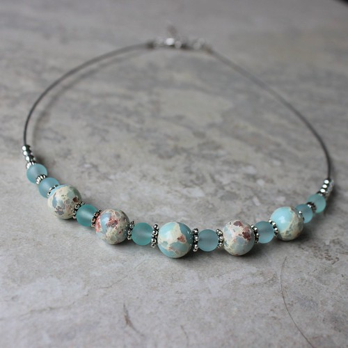 gifts Aqua beaded necklace!...
