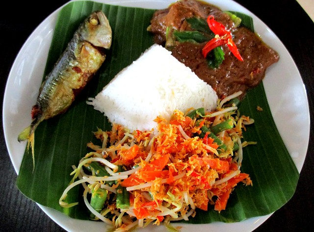 The Cafe IND Indonesian menu, ikan kembong sumbat