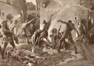 El cuadro Matanzas de Judios 1391 de José Segrelles