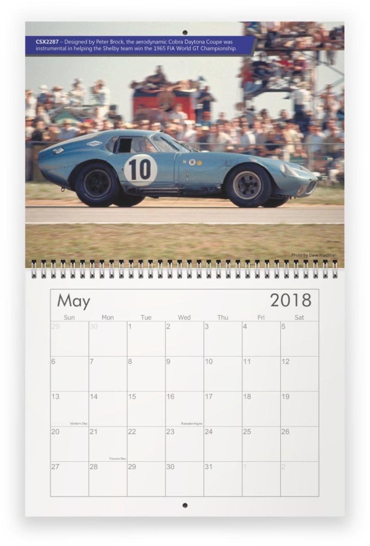 Homemade Calendar 2018 : My homemade cobra calendar