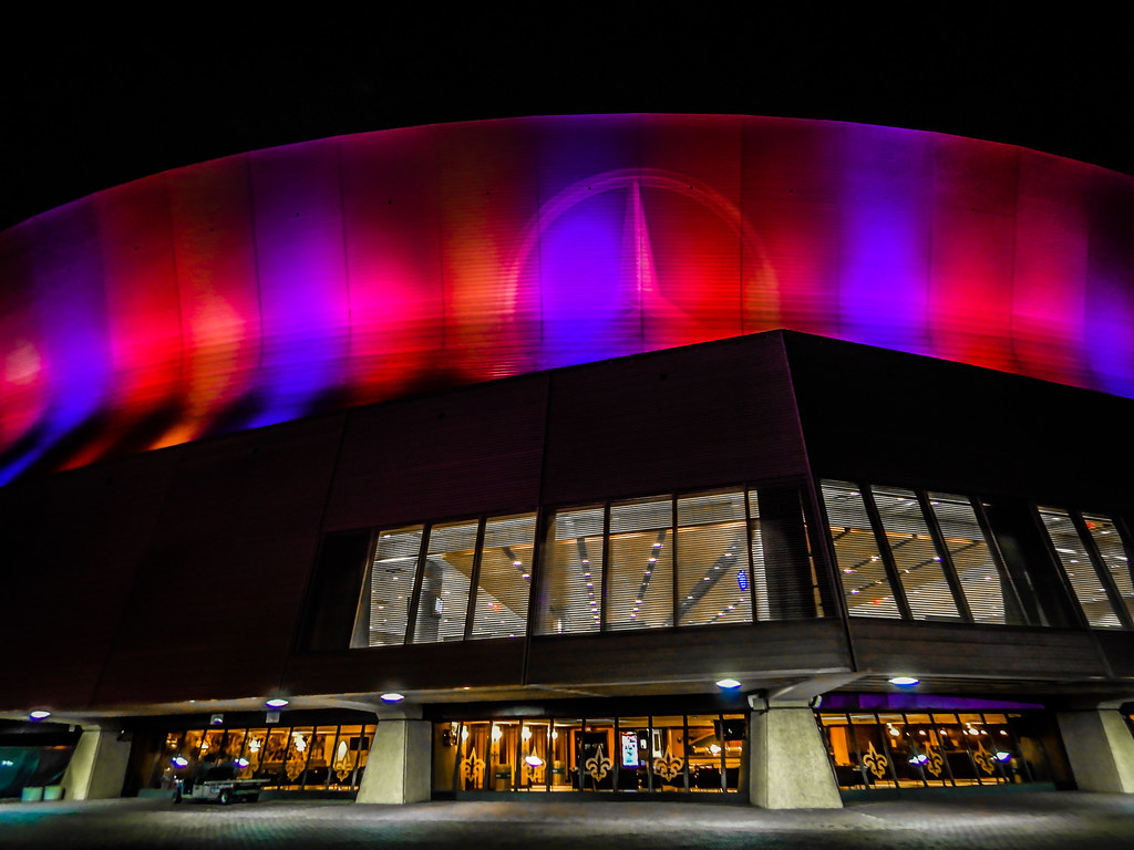 ... Mercedes Benz Superdome At Night New Orleans LA | By Mbell1975