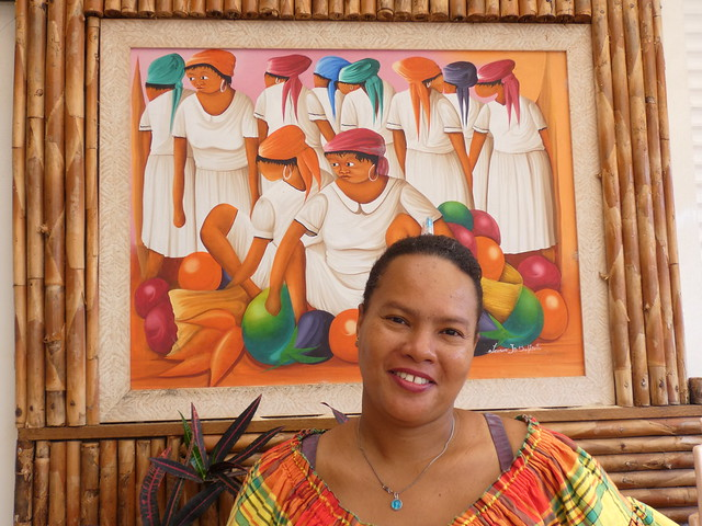 Camarera del restaurante Bambou de Morne Rouge (Martinica)
