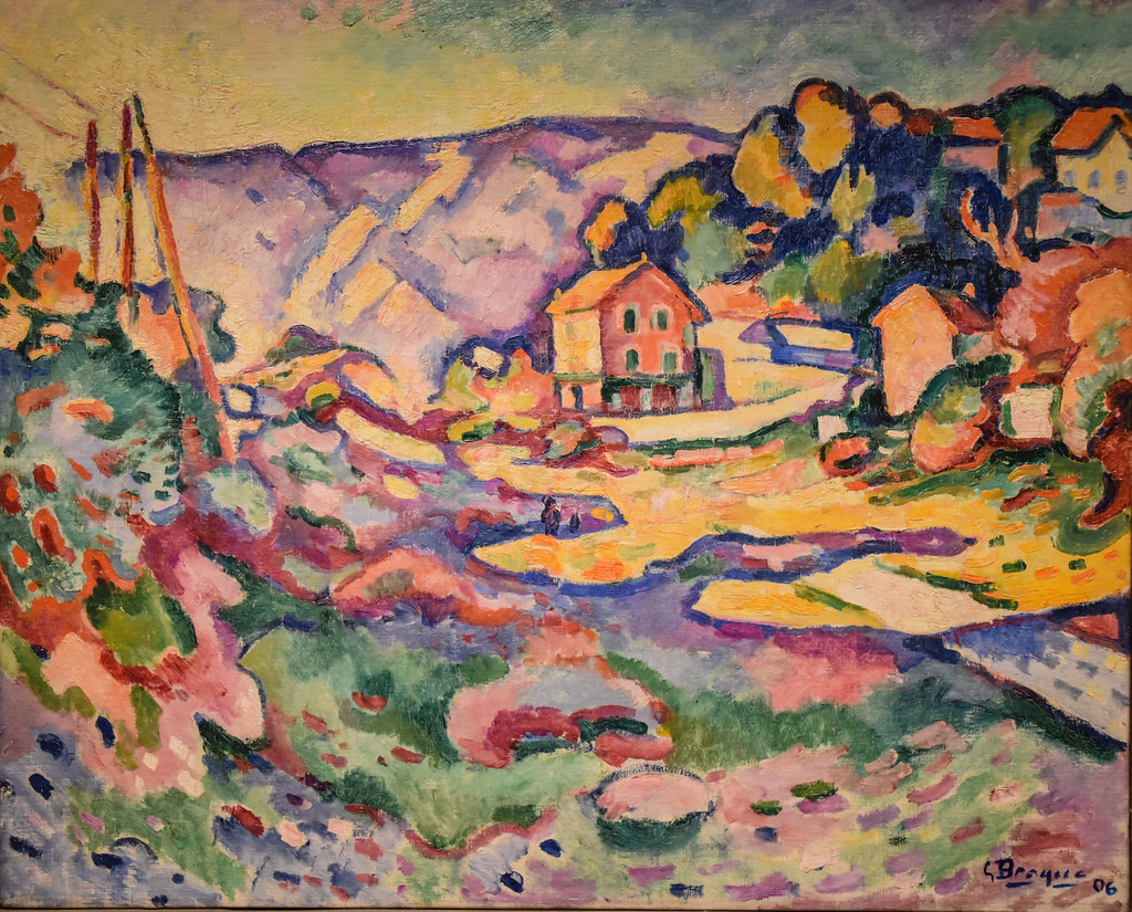 georges braque landscape at l estaque 1906 at new orlea flickr