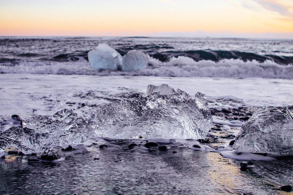 Glacier Lagoon Diamond Beach Iceland Winter Glacier Lagoon Flickr