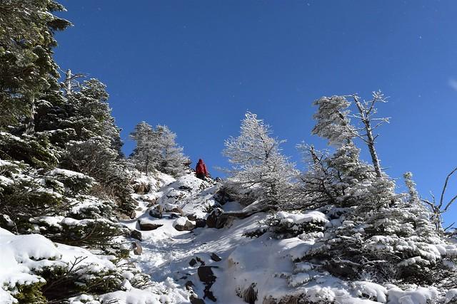 黒斑山の霧氷 雪山登山