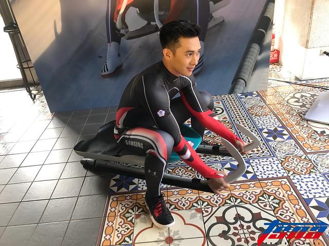 無舵雪橇選手連德安。(資料照,鍾亞芳/攝)