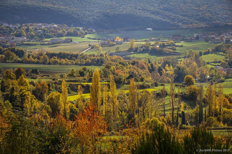 El valle del Urederra entre Zudaire y Baríndano