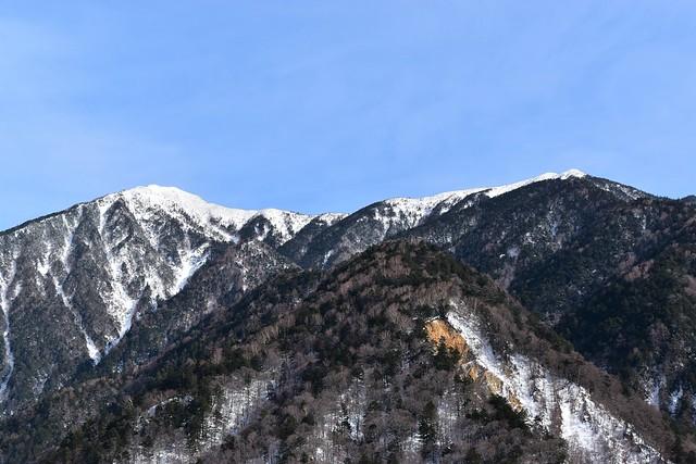雪の霞沢岳