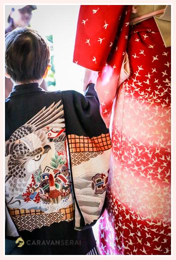 女性出張カメラマンが撮る七五三写真 in 日本遺産の「窯垣の小径」(愛知県瀬戸市) 兄弟揃って七五三(3才の男の子と7才の女の子)