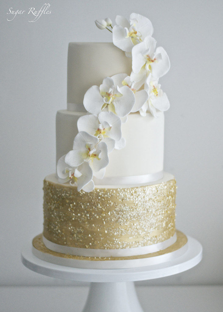 Gold Orchid Wedding Cake Charlotte Flickr