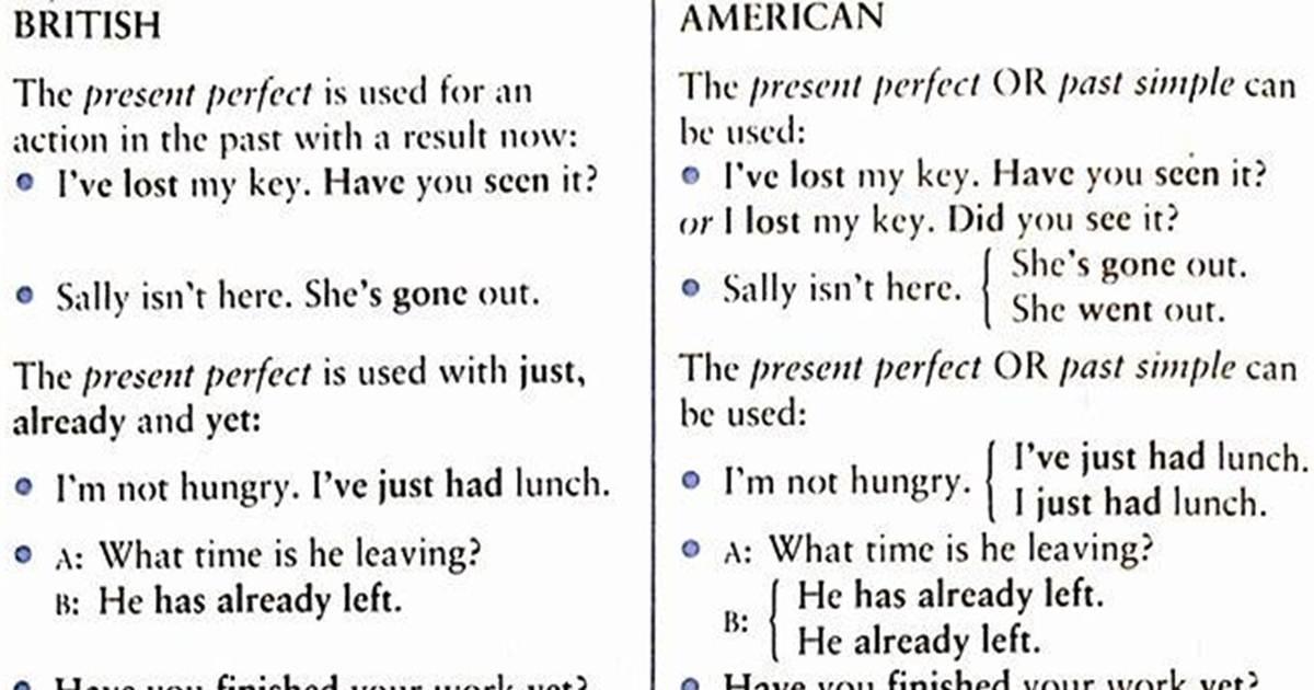 British and American English 5