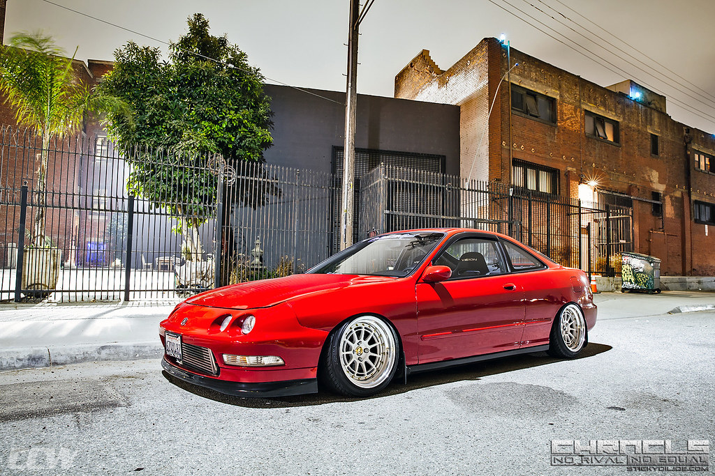 Red Acura Integra CCW DL Piece Forged Wheels Flickr - Rims for acura integra