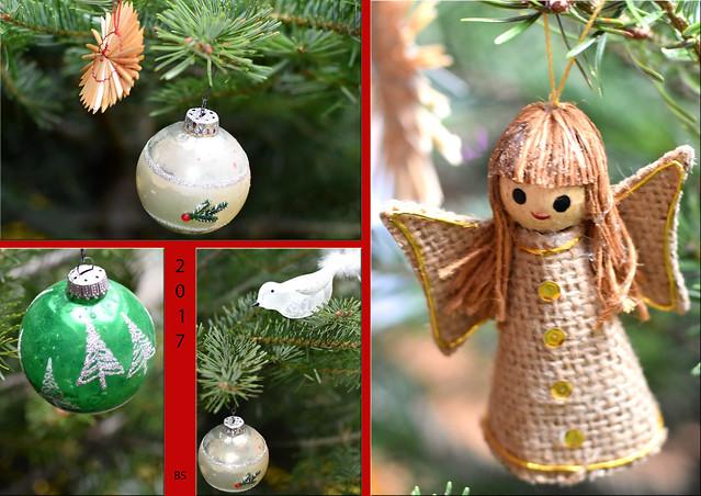 Karla Kunstwadl schmückt den Weihnachtsbaum ... 24. Dezember 2017 ... Foto: Brigitte Stolle