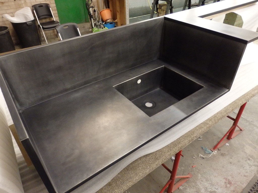 Great ... 194   Zinc Counter Unit With Integral Zinc Sink | By Metal Sheets  Limited