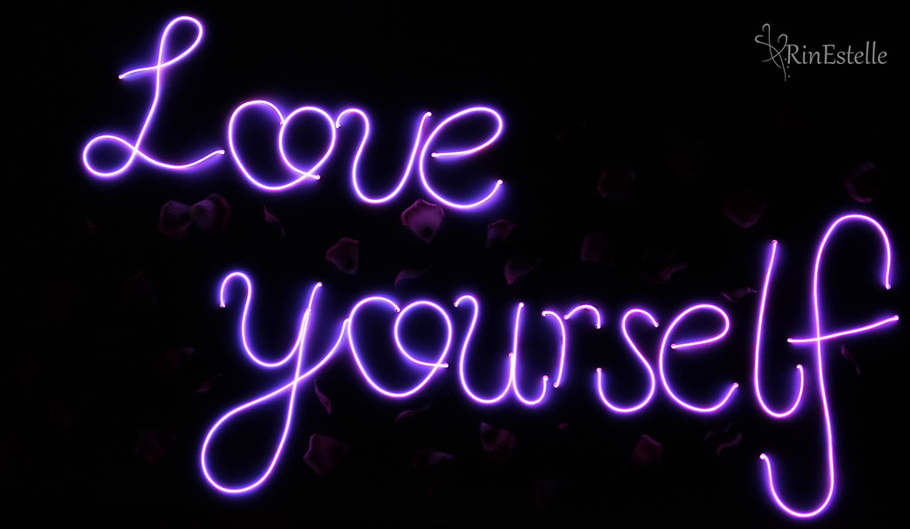 Love yourself neon sign art project lauren estelle flickr rinestellephotography love yourself neon sign art project by rinestellephotography solutioingenieria Choice Image