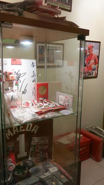 一如廣島隊博物館的李嘉明收藏。(曾文誠/攝)