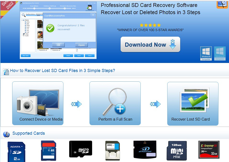 download memory card recovery software