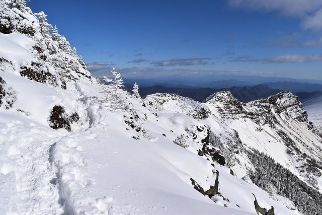 浅間山 雪の外輪縦走路