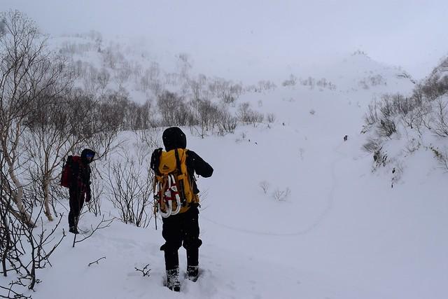 冬の焼岳 雪山登山