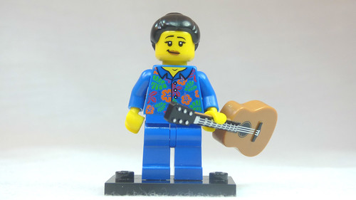 Brick Yourself Custom Lego Figure Girl in Blue Pyjamas with Guitar | by BrickManDan