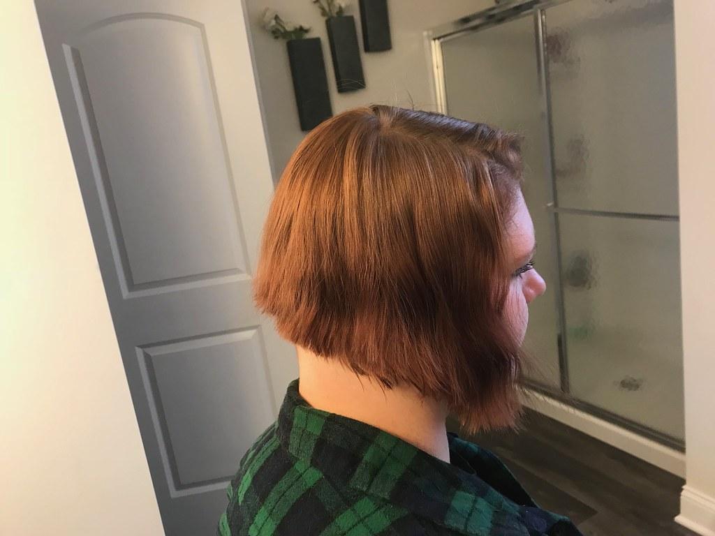 Long To Short Haircut I Did Today Undercut Bob Tyler Flickr