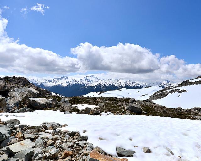 Vistas desde lo alto del monte Whistler