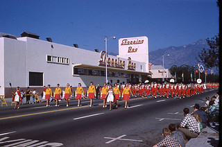 High school banner carriers and band | by Pasadena Digital History