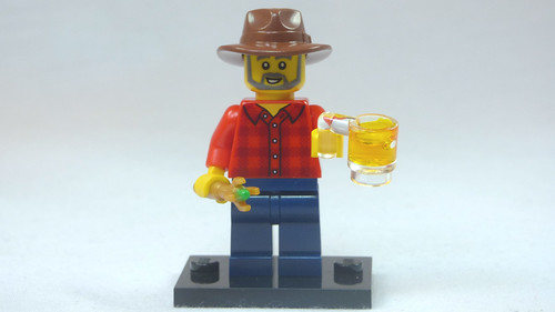Brick Yourself Custom Lego Figure Dr Who Fan with Beer | by BrickManDan