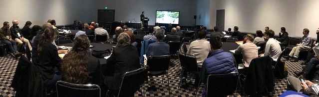 APHIS Researcher, Damon Crook, presents at ESA on attractants for Asian longhorned beetle wide room view