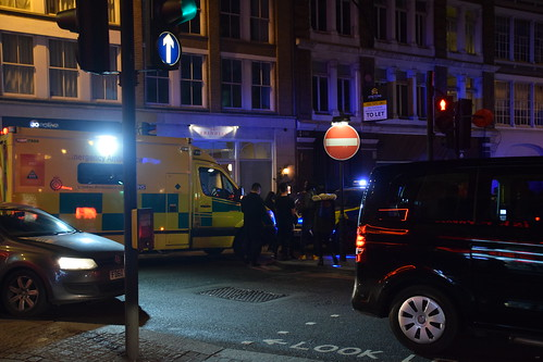 DSC_7189 Shoreditch London Old Street ad Curtain Road Police and Ambulance Incident Early Hours of the Morning at Old St Records Bar | by photographer695