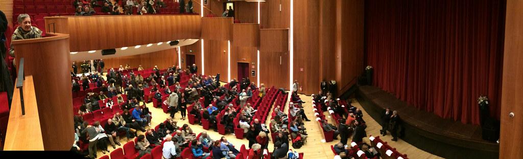 松德里歐影展放映廳分作兩層樓,在第30屆擁有兩萬名觀影人次。攝影者:李若韻
