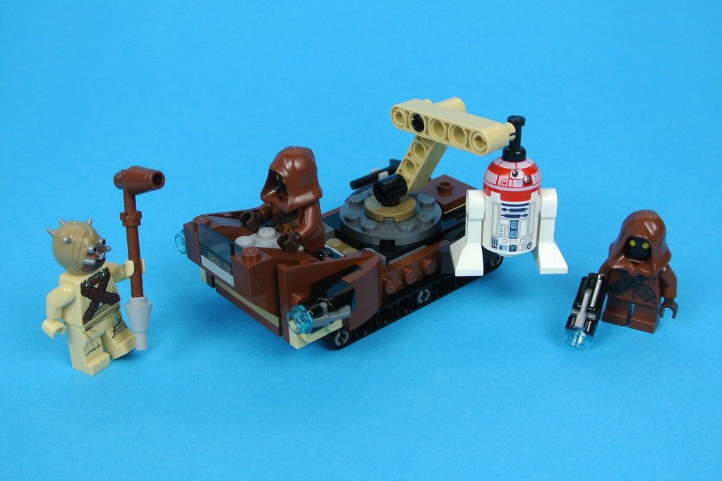 NEW LEGO 4 STAR WARS MINIFIGS,75198 /& WEAPONS 2 JAWAS R3-T2 TUSKEN RAIDER