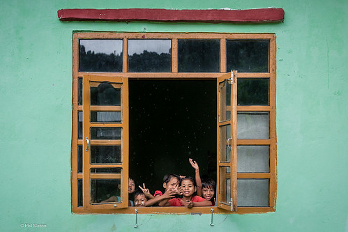 Schoolkids in Myanmar | by Phil Marion