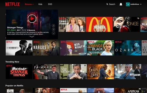 Netflix streaming SVOD site and app