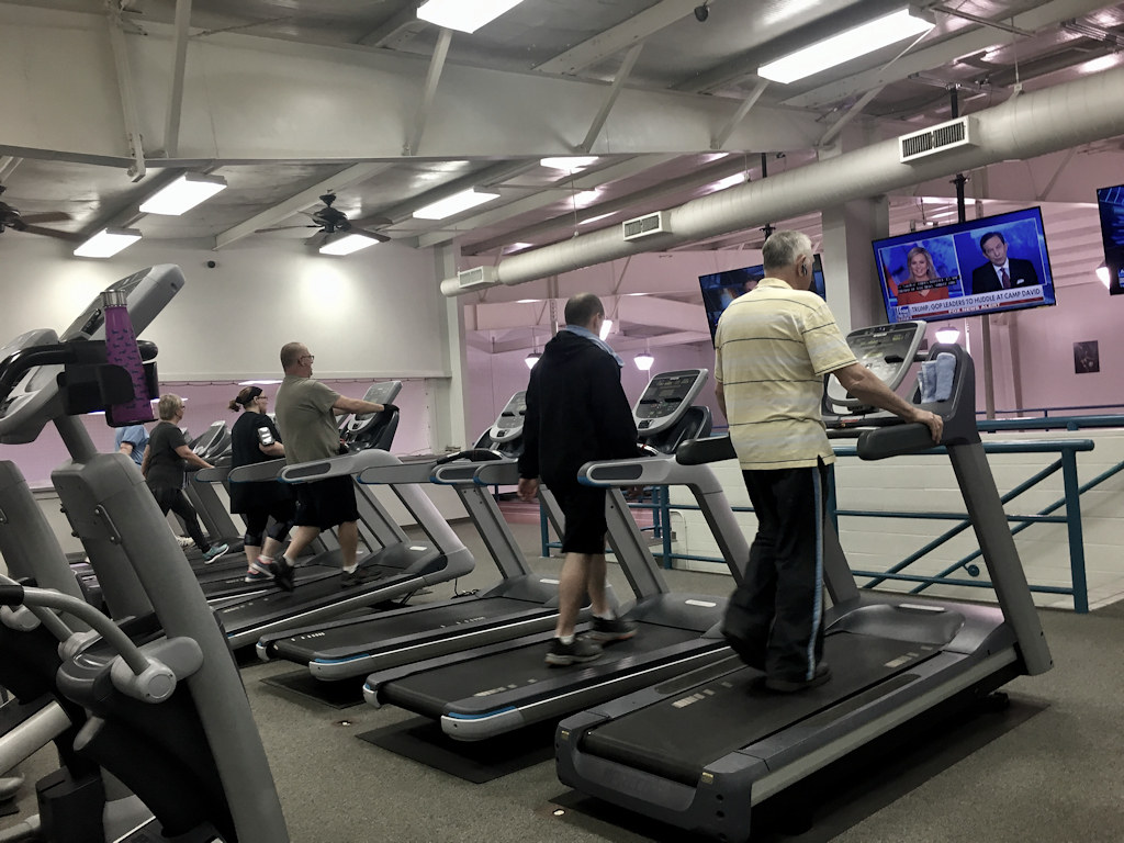 Today's Photo - Fitness – January 5, 2018. Treadmills and other fitness machines were in heavy use at the gym this morning.