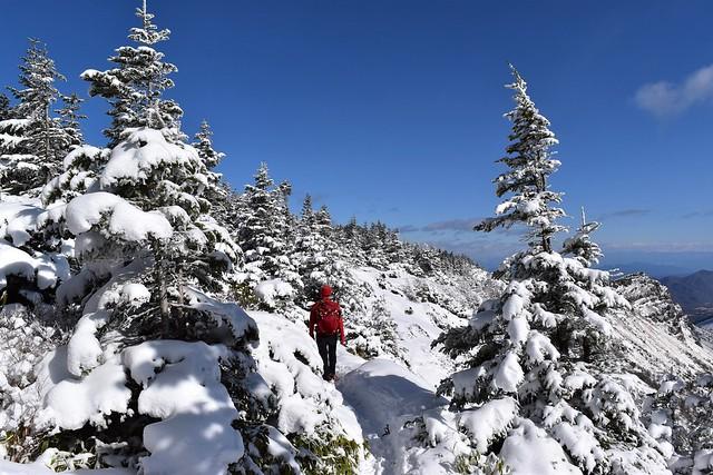 冬の浅間山外輪縦走