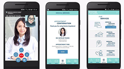Doctor Anywhere - Your virtual medical consultation. Image source: Doctor Anywhere.