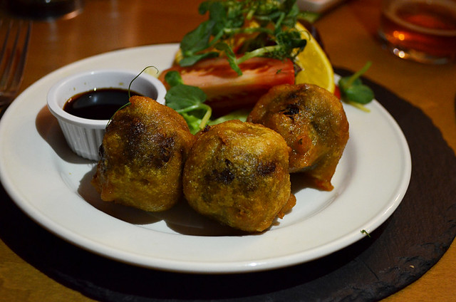 Deep fried haggis balls, Rothesay, Bute, Scotland