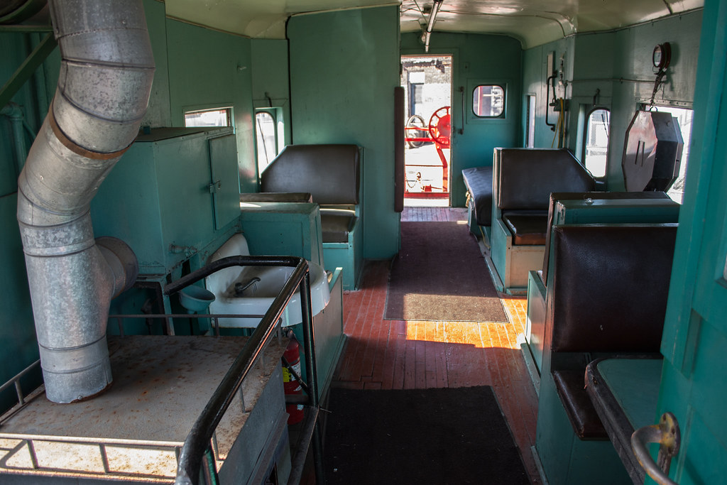Interior 01 Baltimore And Ohio Caboose C 2423 Interior