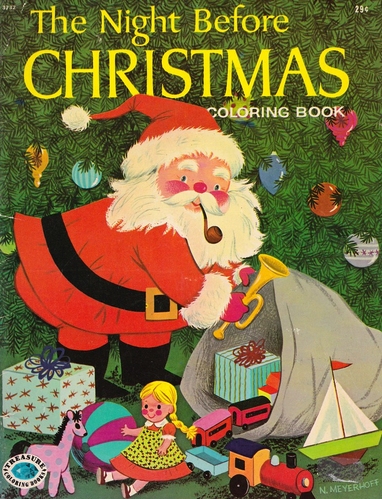 The Night Before Christmas Coloring Book - Treasure Books …   Flickr