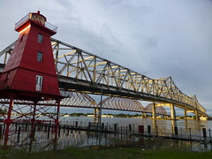 Lighthouse at the bridge in Morgan City