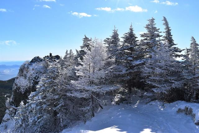 黒斑山の樹氷